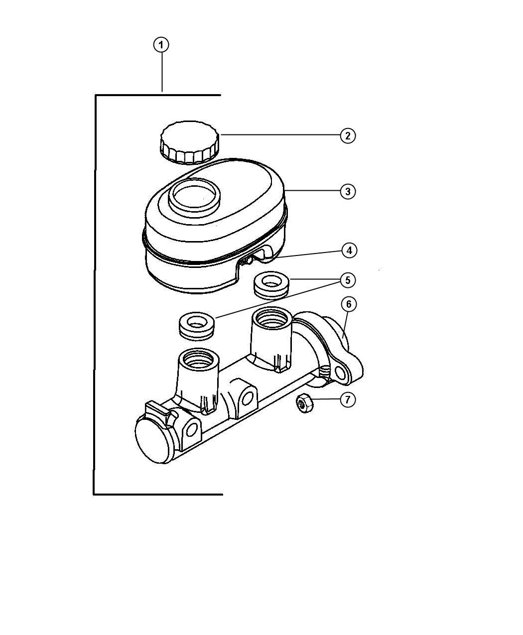 Dodge Durango Reservoir Brake Master Cylinder Tirestires