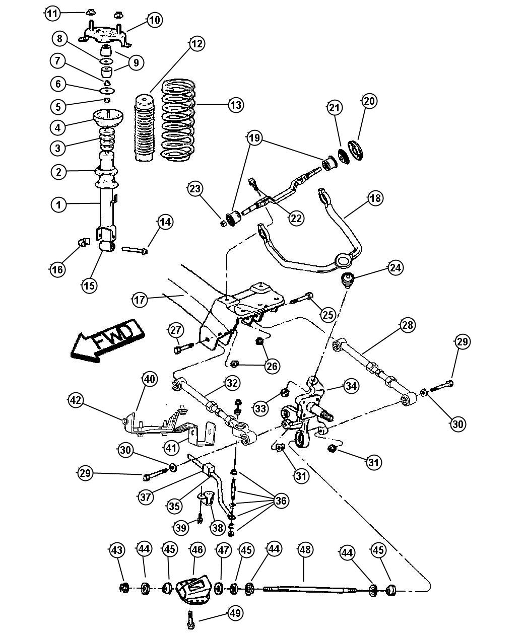 Dodge Neon Parts Diagram Rear Suspension Dodge Auto