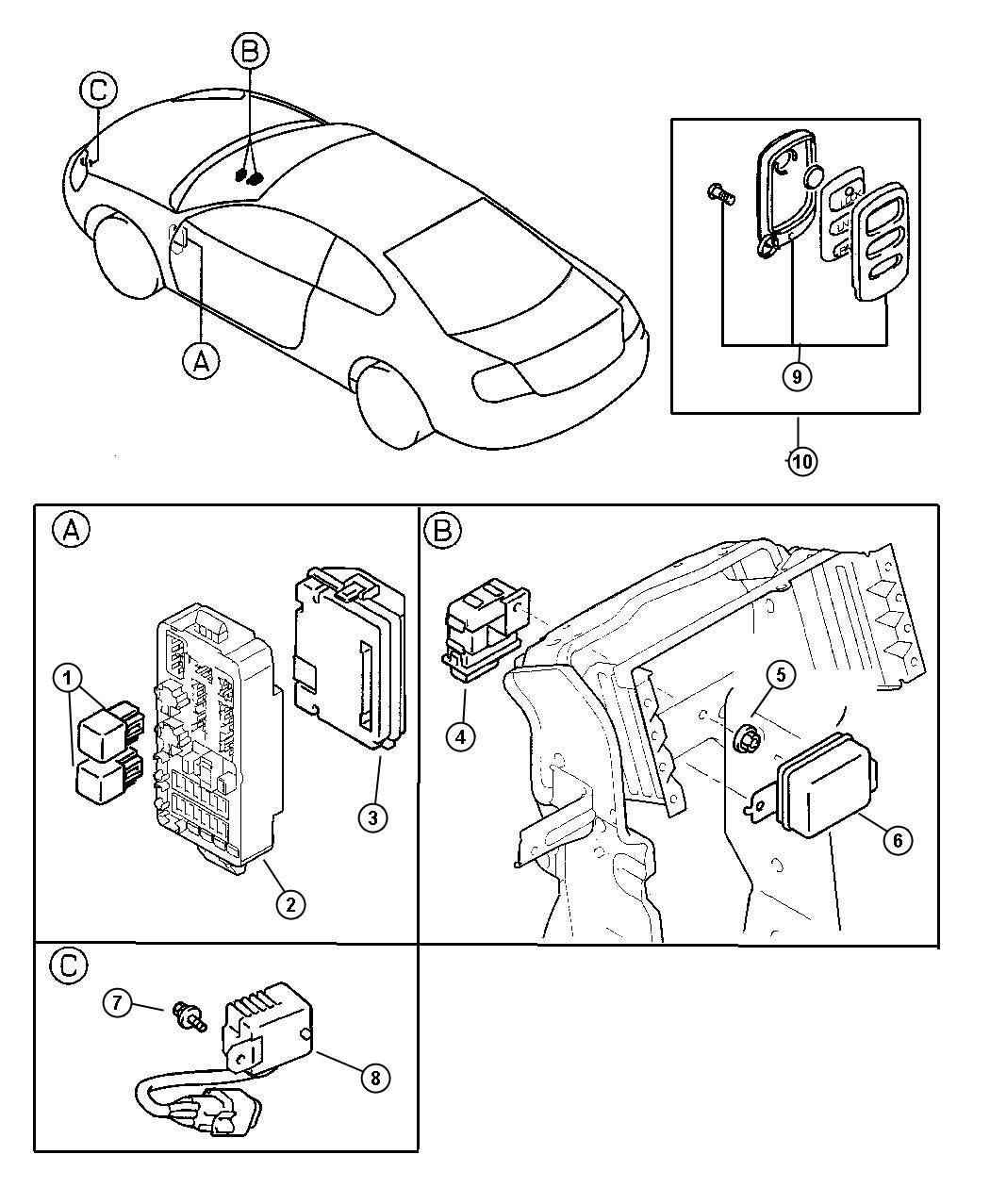 Chrysler Sebring Module Used For Time And Alarm With