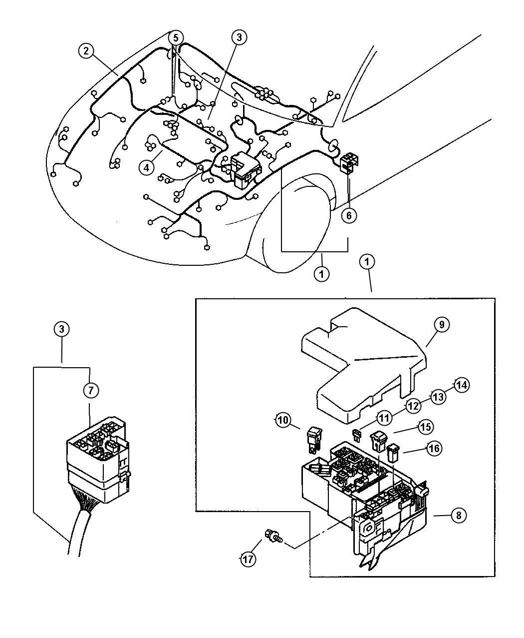 Chrysler Sebring Wiring Chassis Room