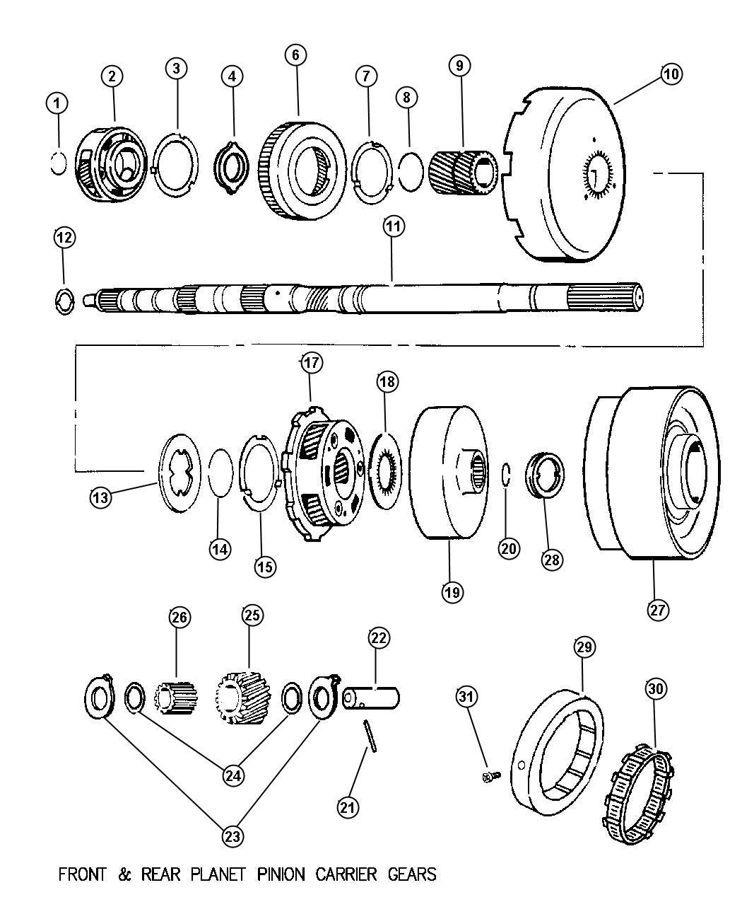 Dodge Ram Thrust Washer Rear Planetary Carrier 4