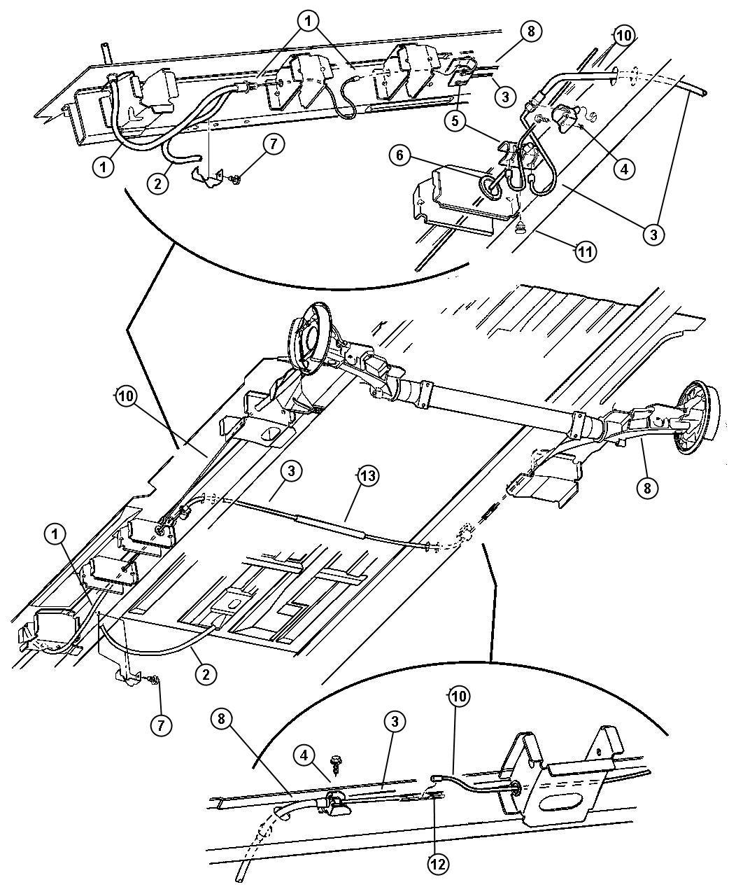Dodge Grand Caravan Equalizer Parking Brake Cable
