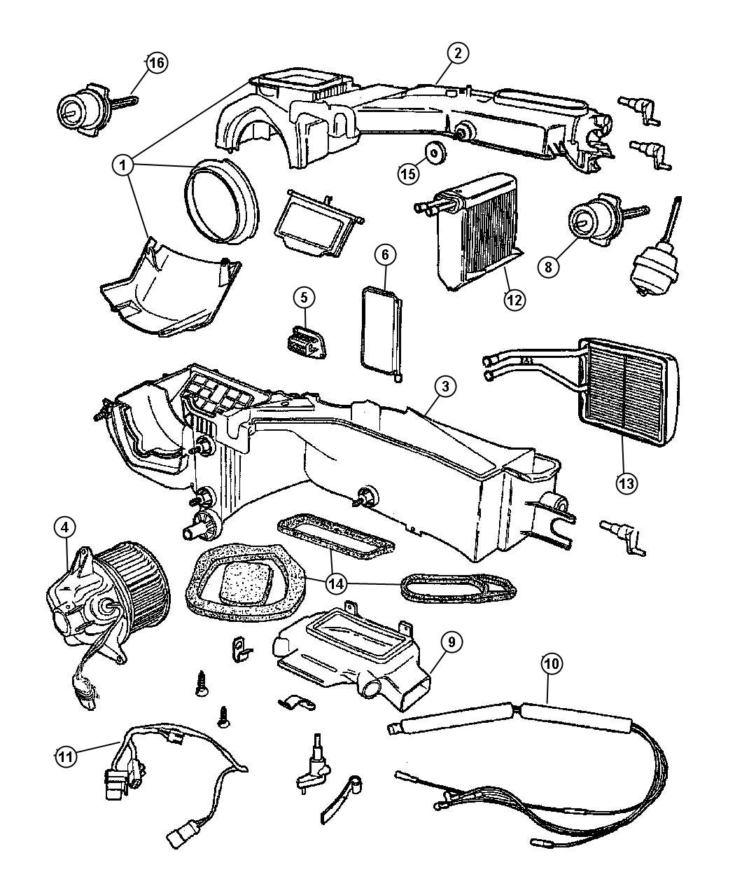 Jeep Wrangler Vacuum Harness Used For Heater And A