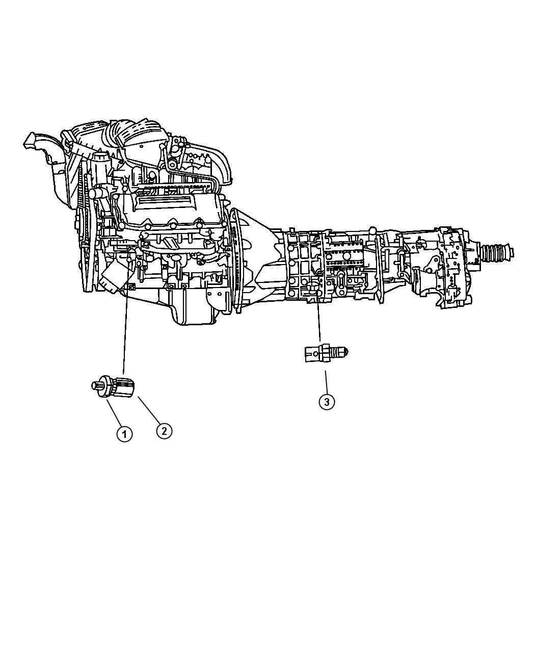 Dodge Dakota Quad Cab 4 7l V8 M T Sending Unit Oil