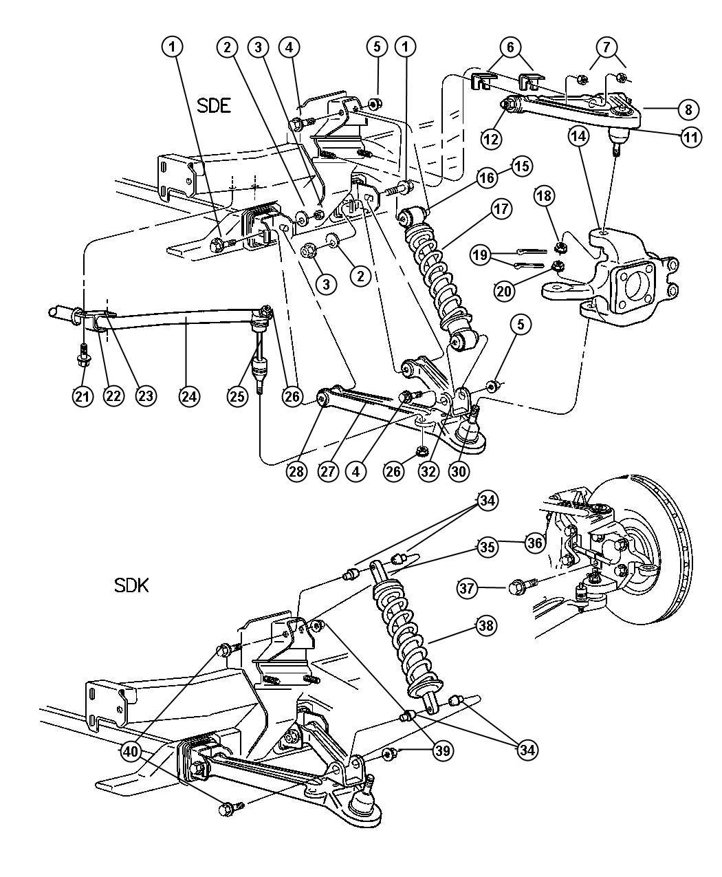 Dodge Viper Shock Absorber Suspension Front Right