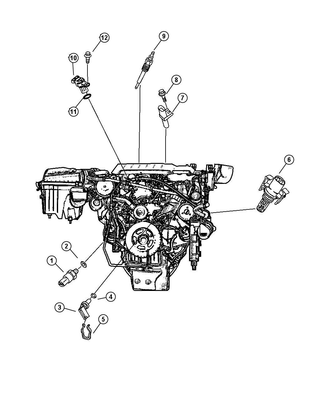 Chrysler Crossfire Sending Unit Sensor Temperature