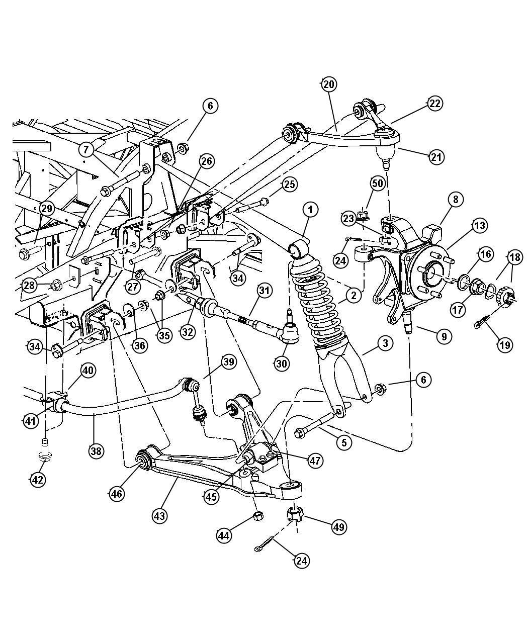 Dodge Link Trailing Rear Suspension Toe Quartzk