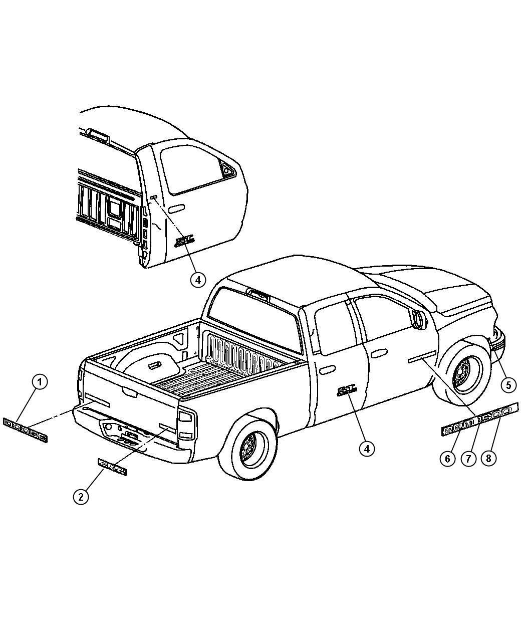 Dodge Ram Decal Kit Body Thunderroad Hemi