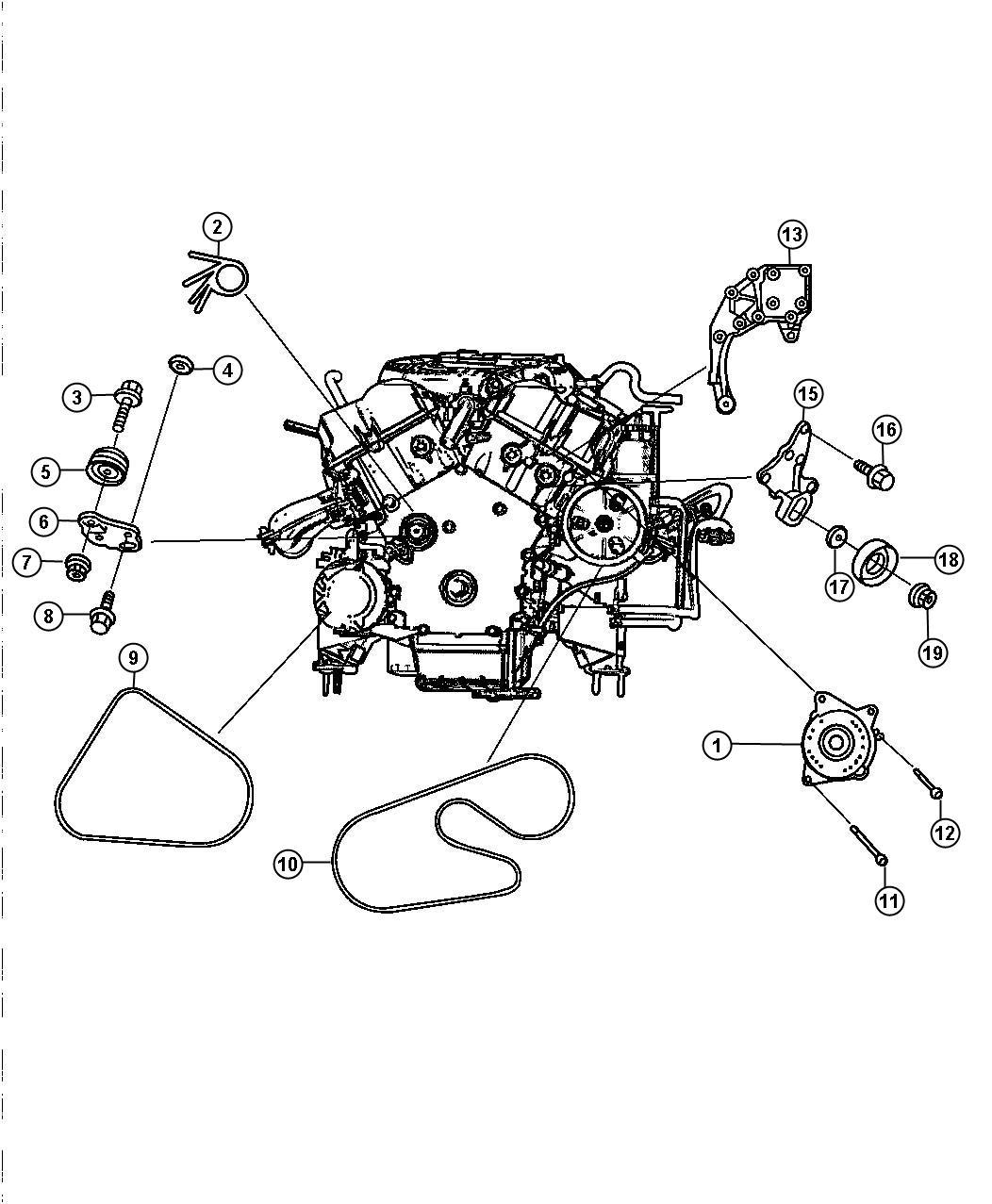 Dodge Intrepid Belt Used For Alt And Power Steering