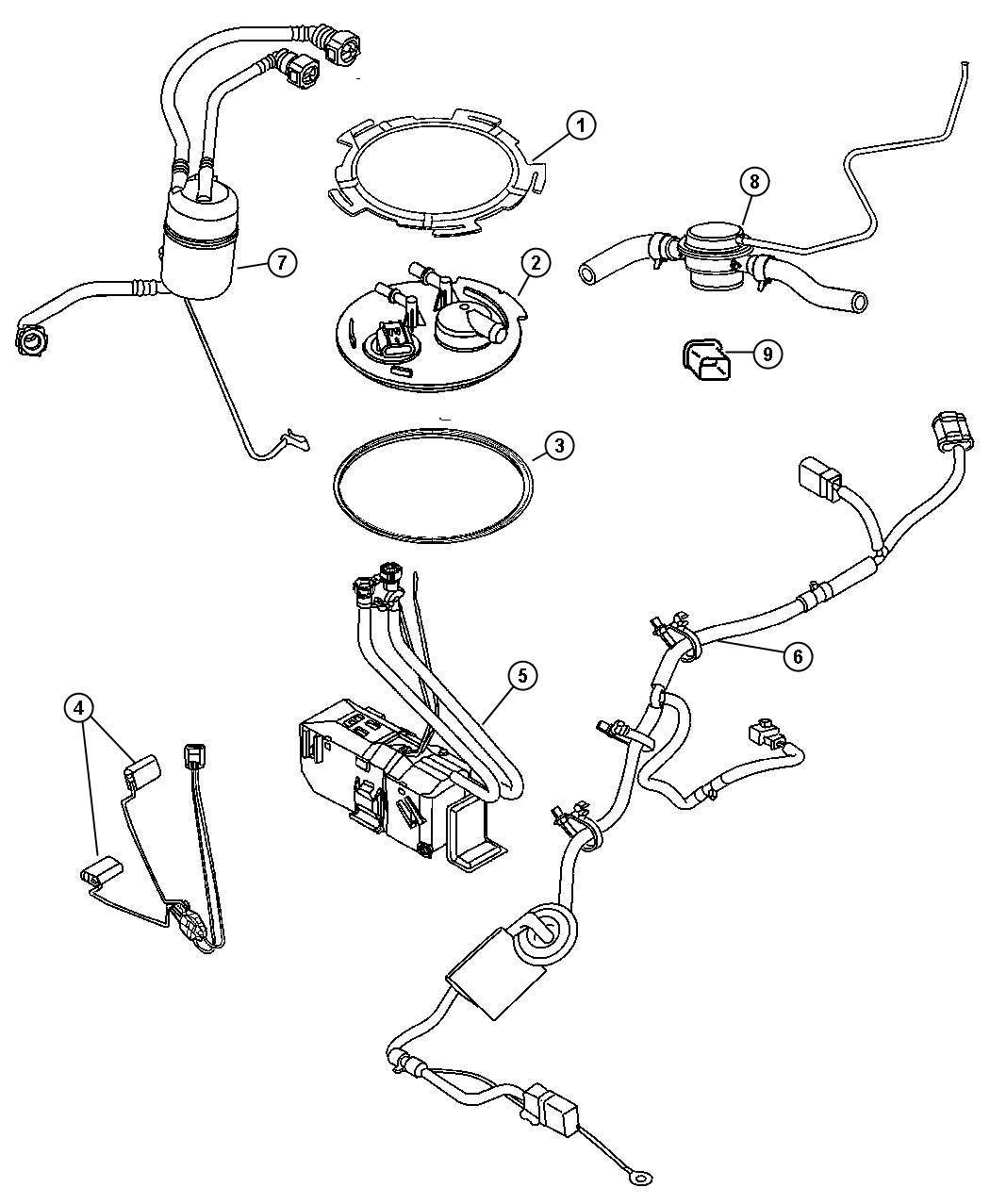 Jeep Liberty Flange Package Fuel