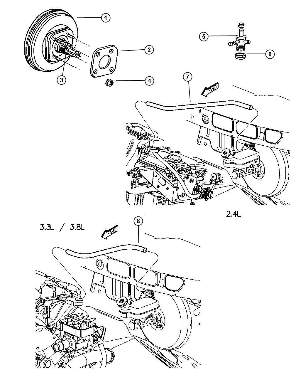 Dodge Caravan Booster Power Brake