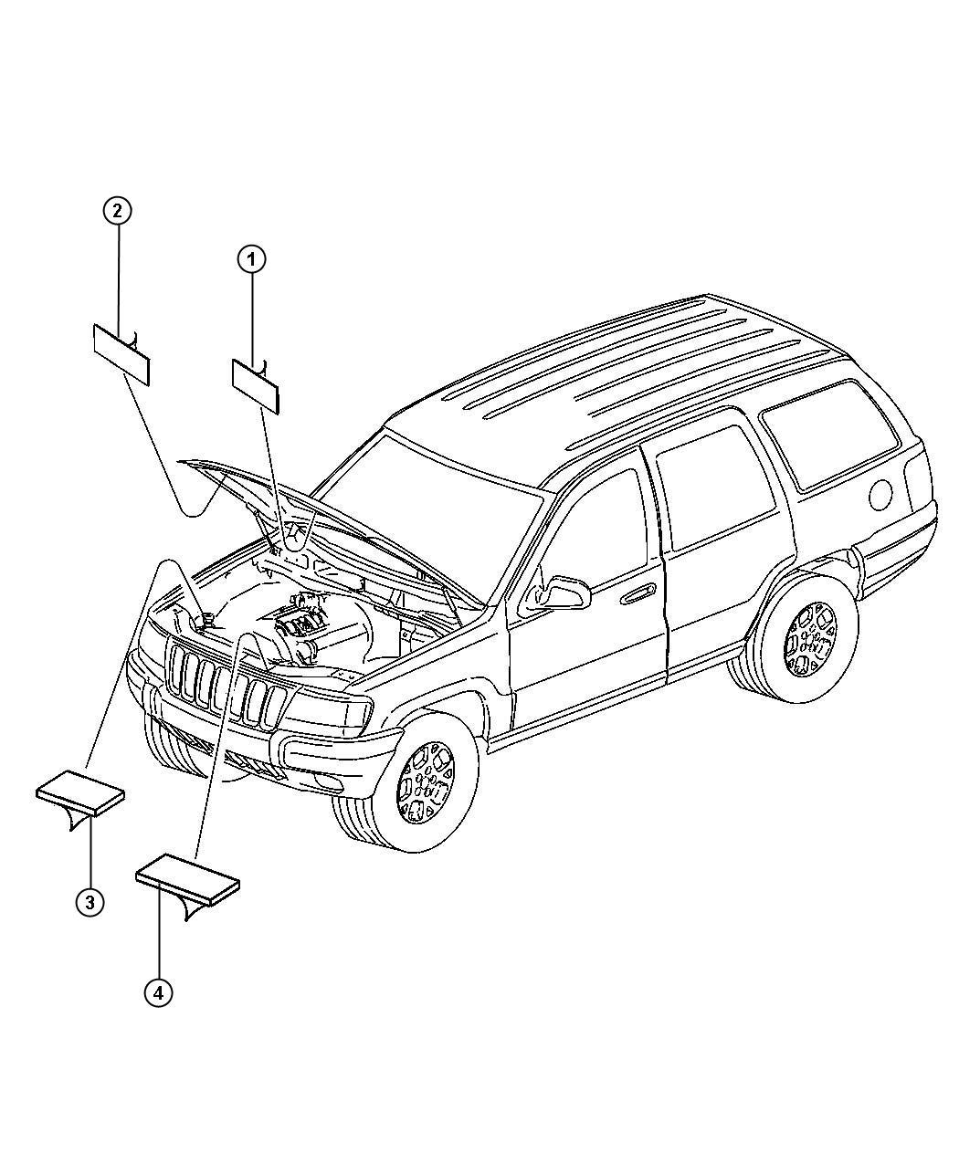 Jeep Grand Cherokee Label Emission 4 7l V8 Power Tech