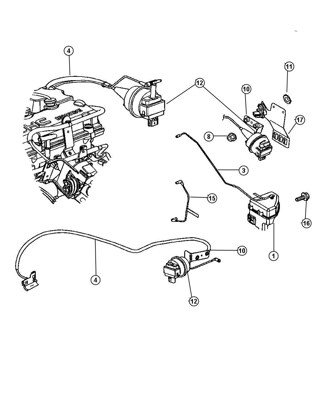 Dodge Stratus Speed Control 2 0l 2 4l 2 7l Engine