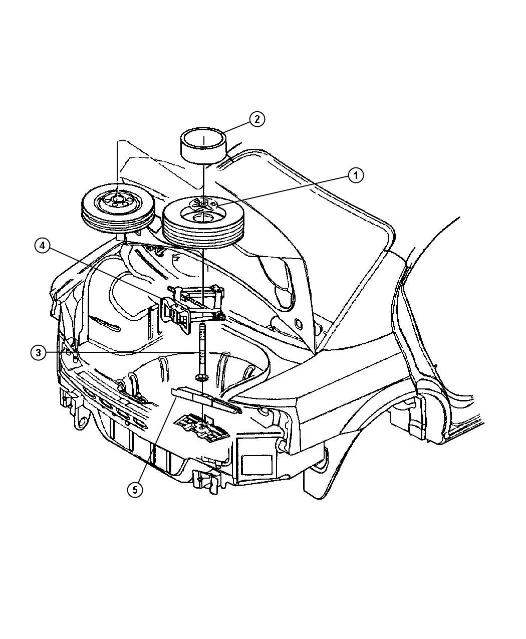 Chrysler Sebring Bolt Square Neck M10x1 5x185