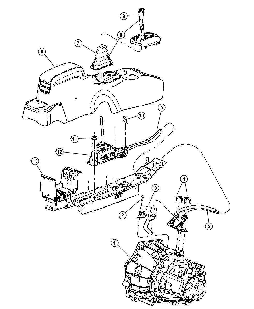 Dodge Stratus Gearshift Controls