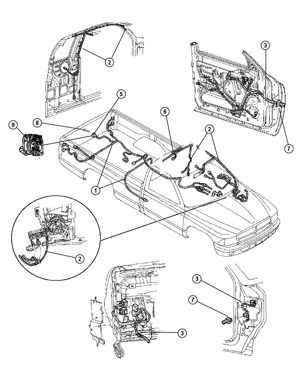 Dodge Dakota Wiring Body Without Mini Overhead Console