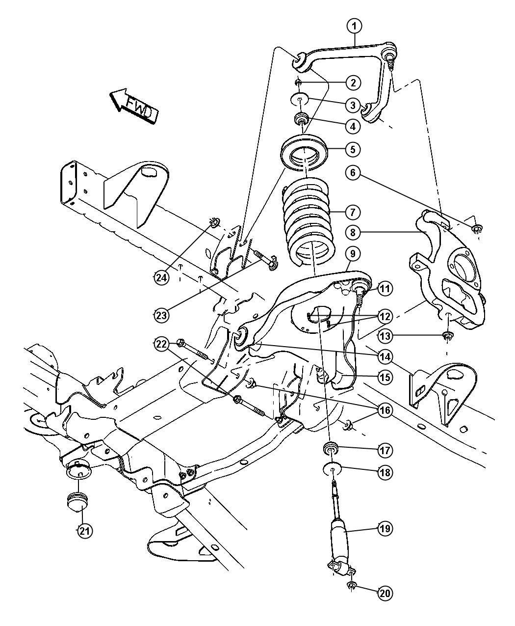 Dodge Arm Left Lower Control Front Shocksdr