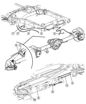 52122296AA  Mopar Tensioner Parking brake cable Cablesrear, cablesreardh | Mopar Parts Overstock