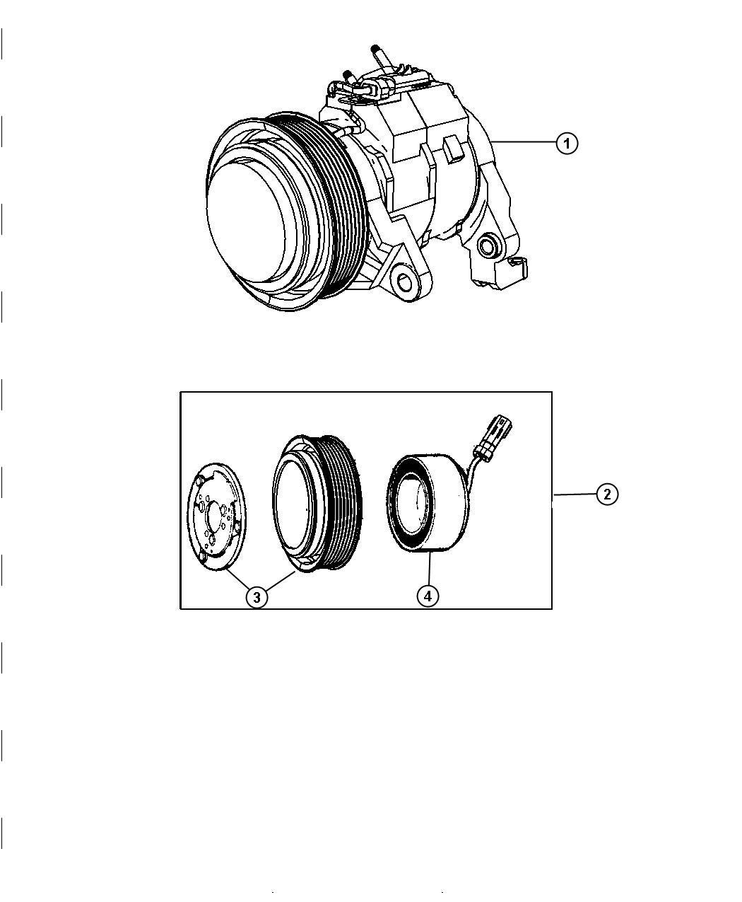 Dodge Ram Compressor Air Conditioning Wclutch