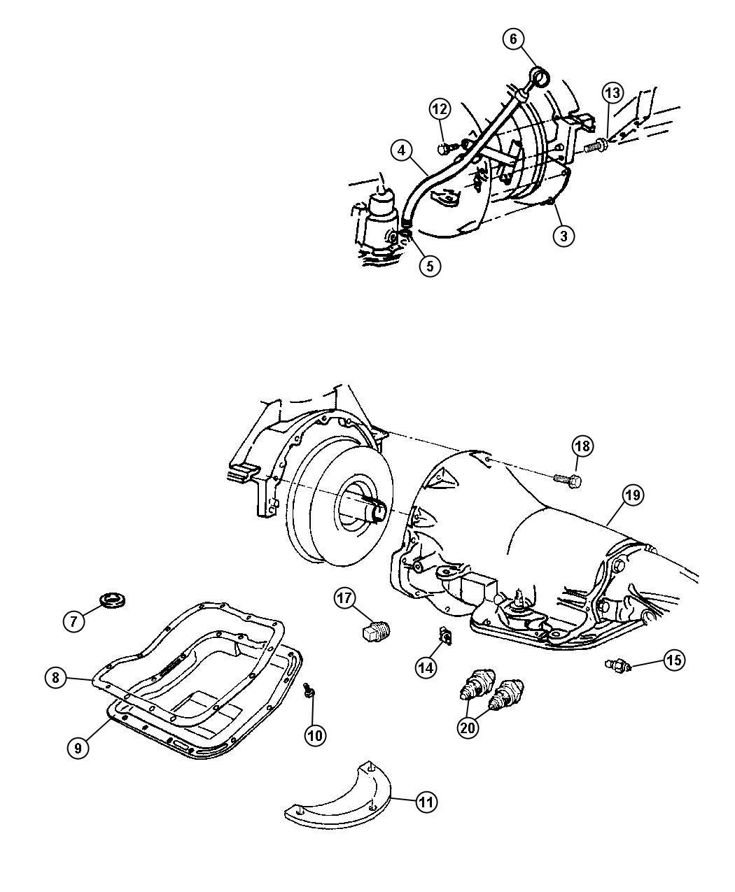 Dodge Ram Cover Transmission Dust