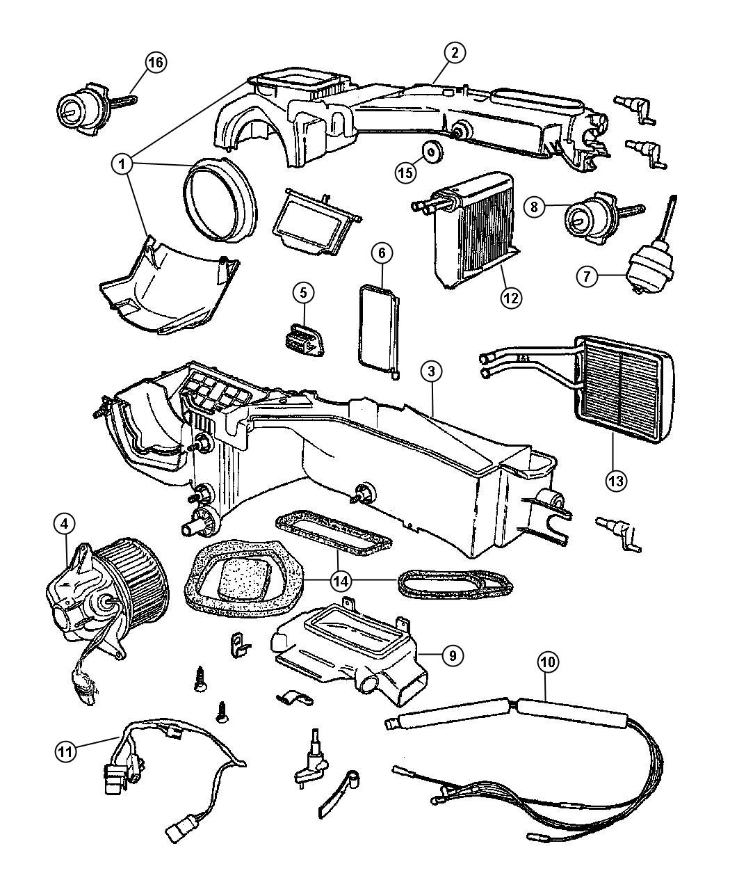 Dodge Ram Actuator Vacuum A C And Heater Defrost