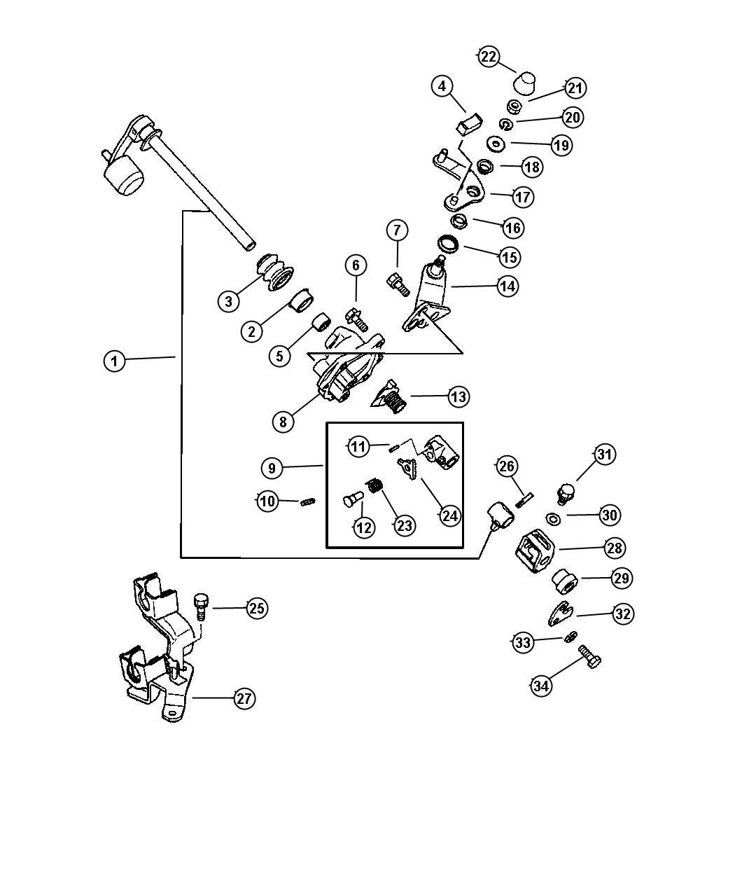 Chrysler Sebring Plate Gearshift Interlock