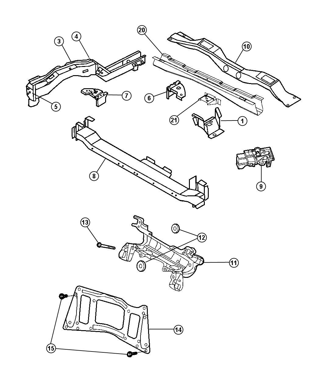 Dodge Grand Caravan Used For Screw And Washer Hex