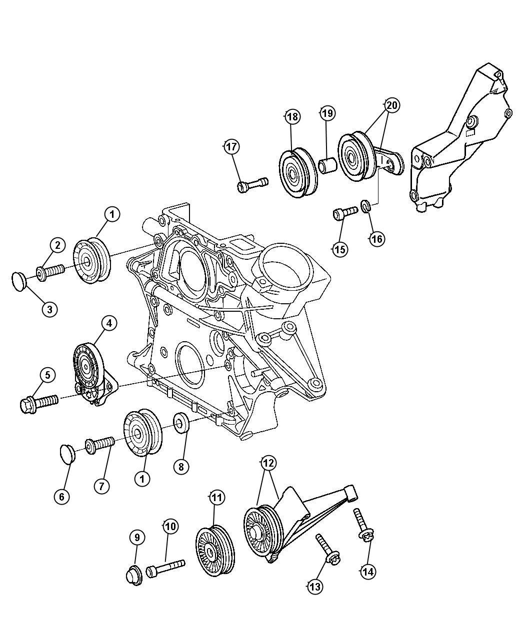 Dodge Sprinter Tensioner Belt Trackingrear Cly