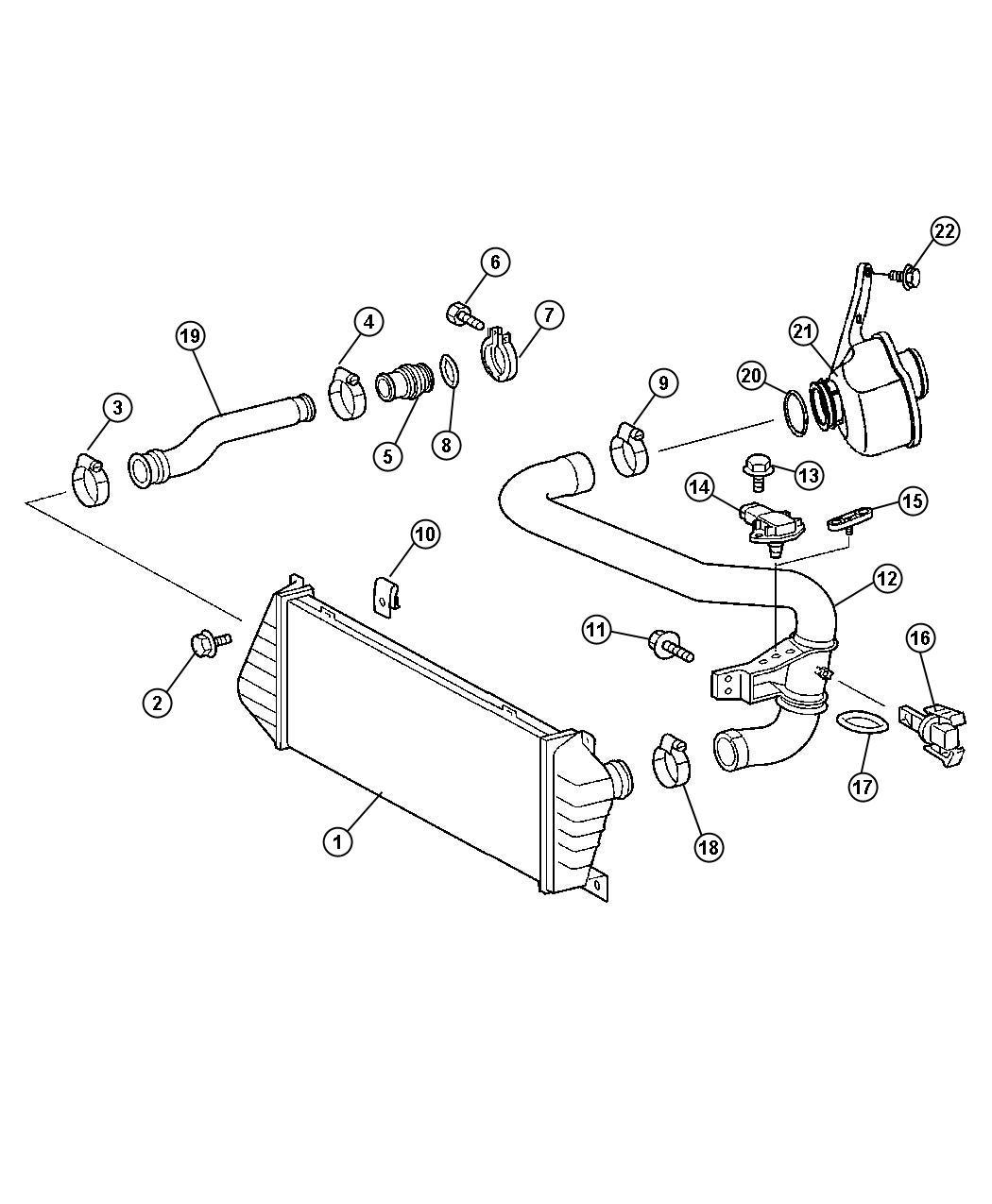 Dodge Sprinter Clamp Intercooler Mercedesbenz
