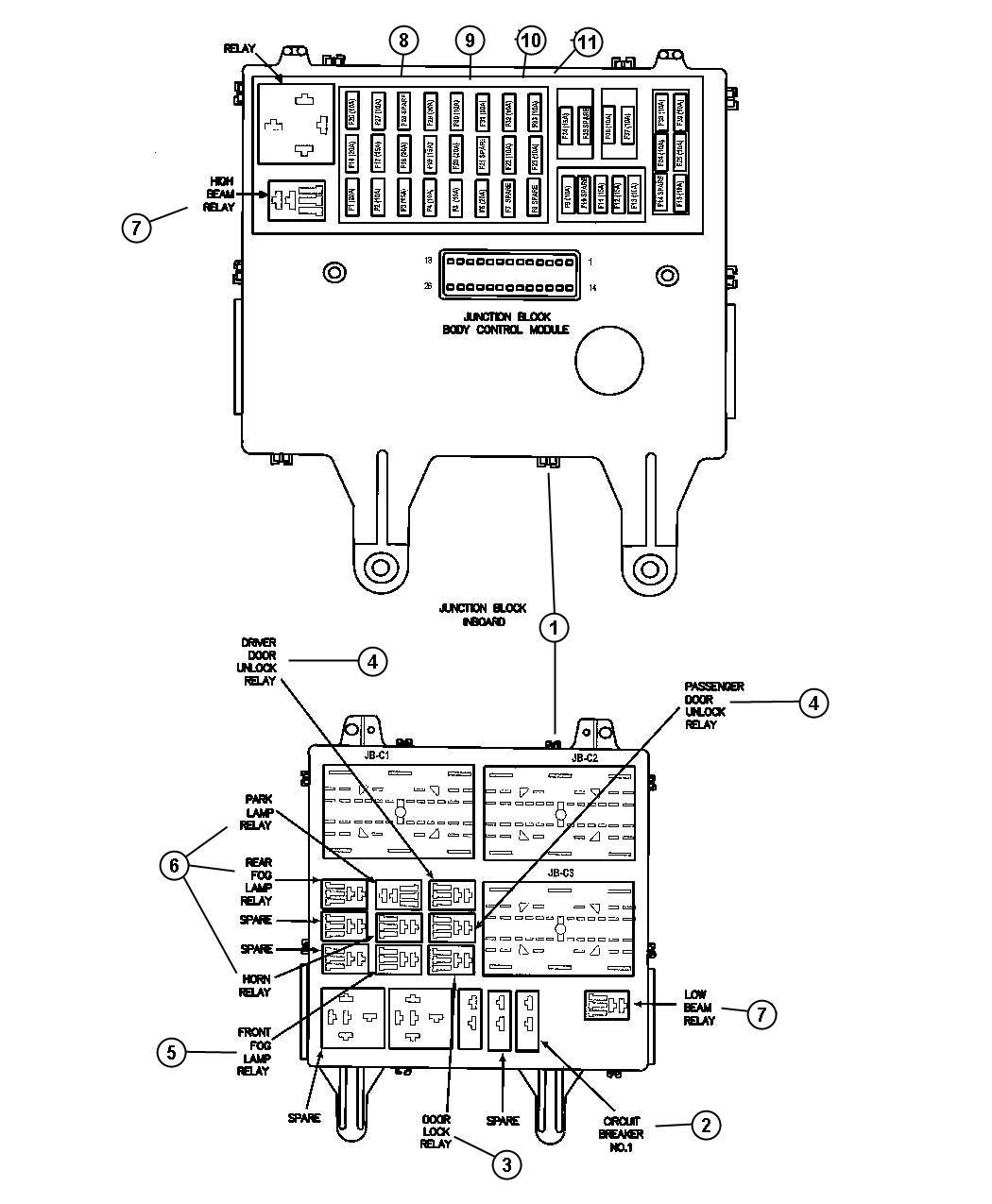 Chrysler Sebring Fuse Mini 20 Amp Yellow Eatx Engine