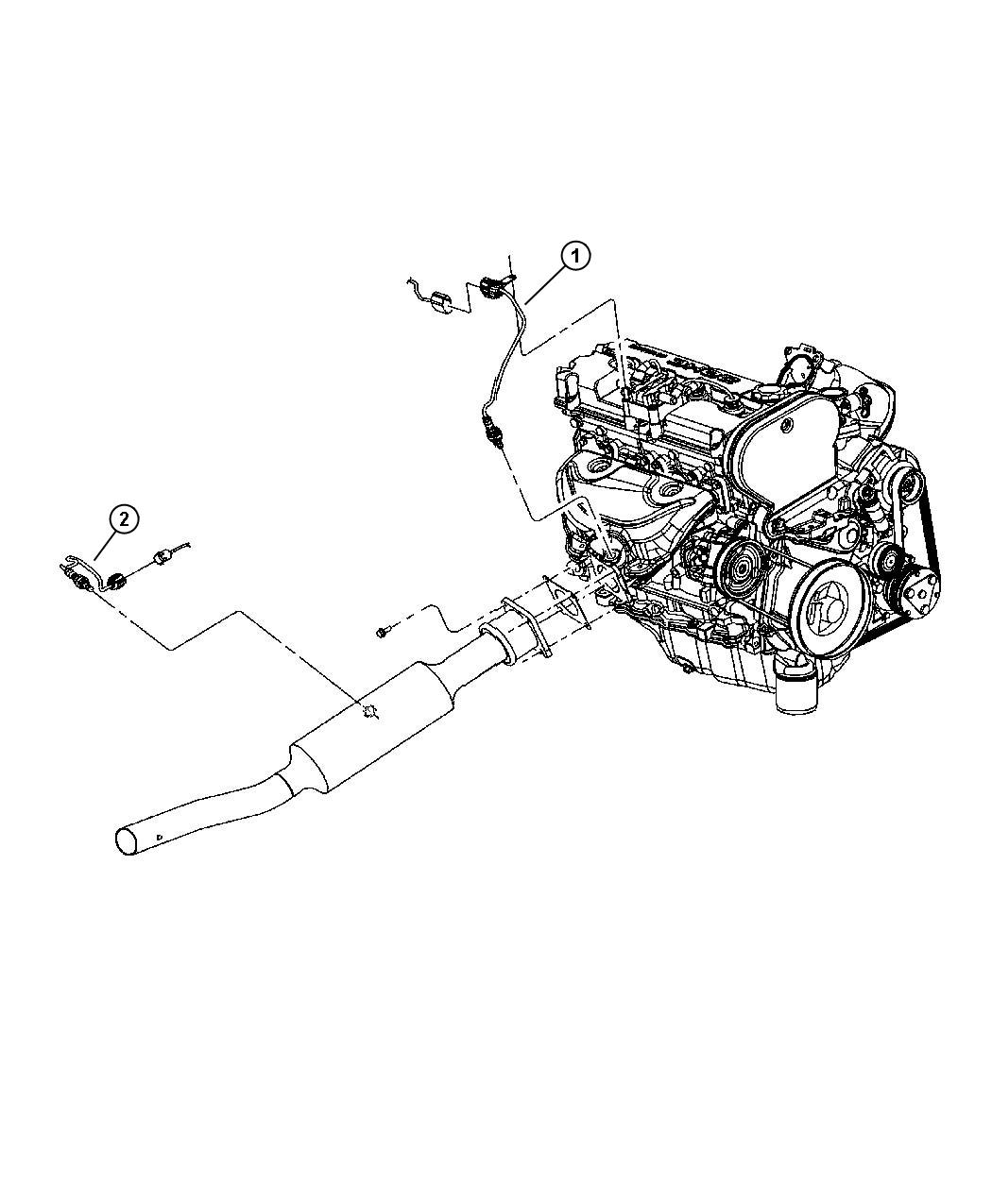 Chrysler Sebring Sensor Oxygen Downstream