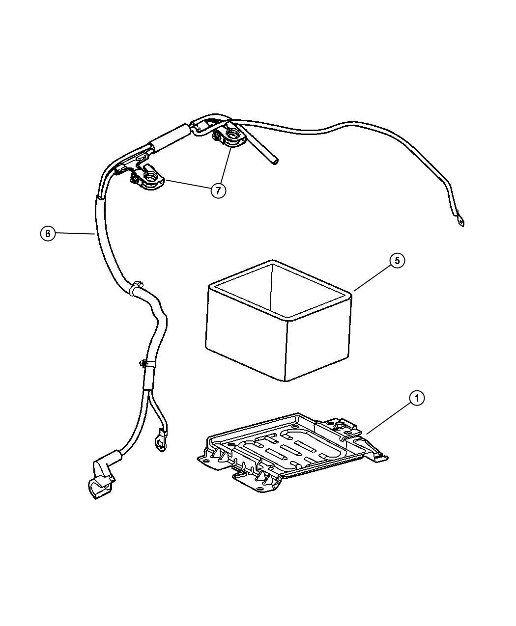 Dodge Dart Terminal Battery Positive Battery Cable