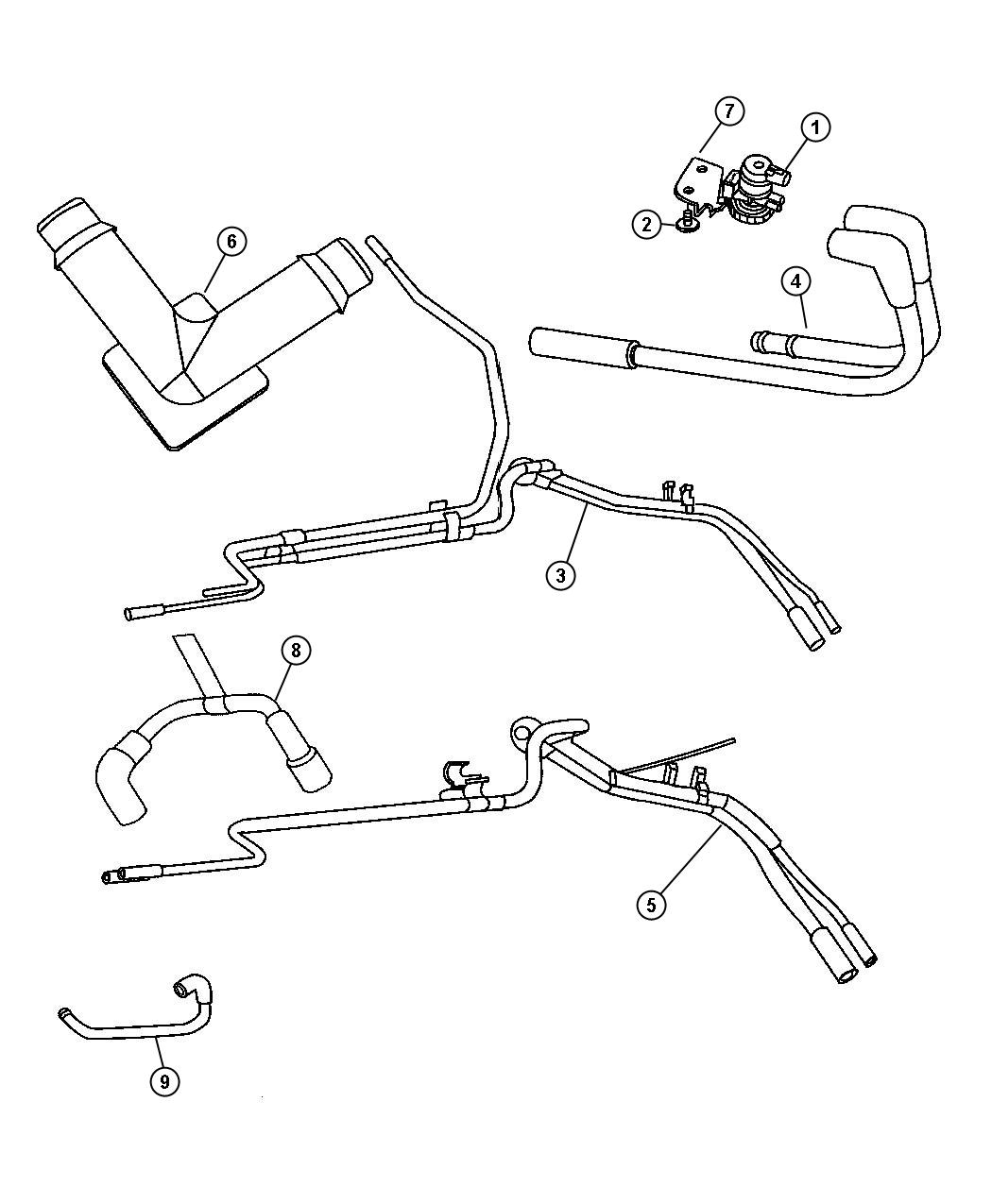 Dodge Ram Harness Vapor Purge Vaccum