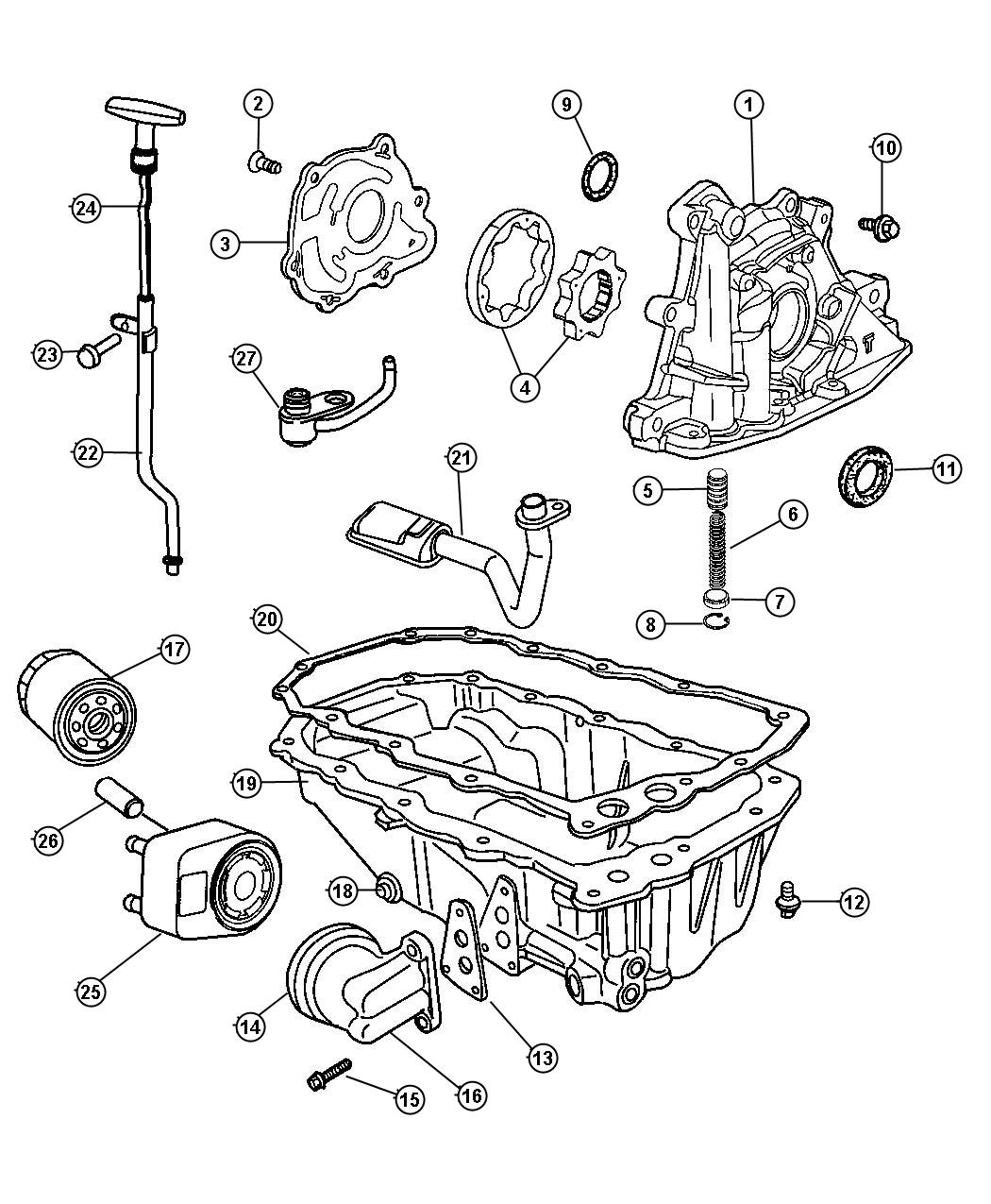 Chrysler Town Amp Country Adapter Connector Oil Filter