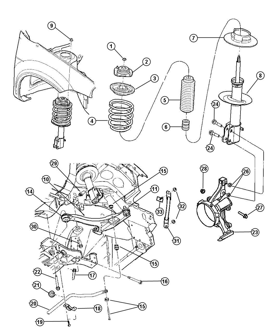 Dodge Neon Arm Control Right
