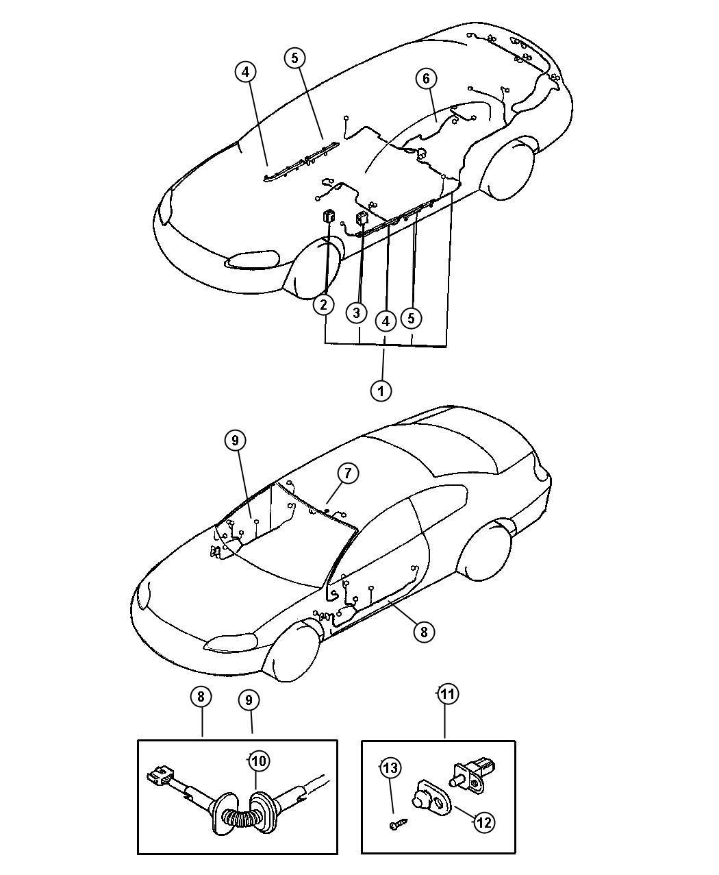 Dodge Stratus Cap Door Lamp Switch