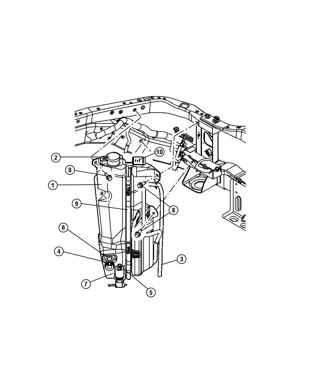 Dodge Durango Grommet Windshield Washer Pump