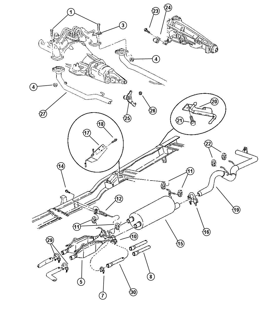 Dodge Ram Resonator Exhaust Federal
