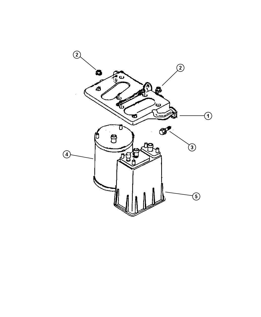 Jeep Canister Vapor Square Square Canister Evap