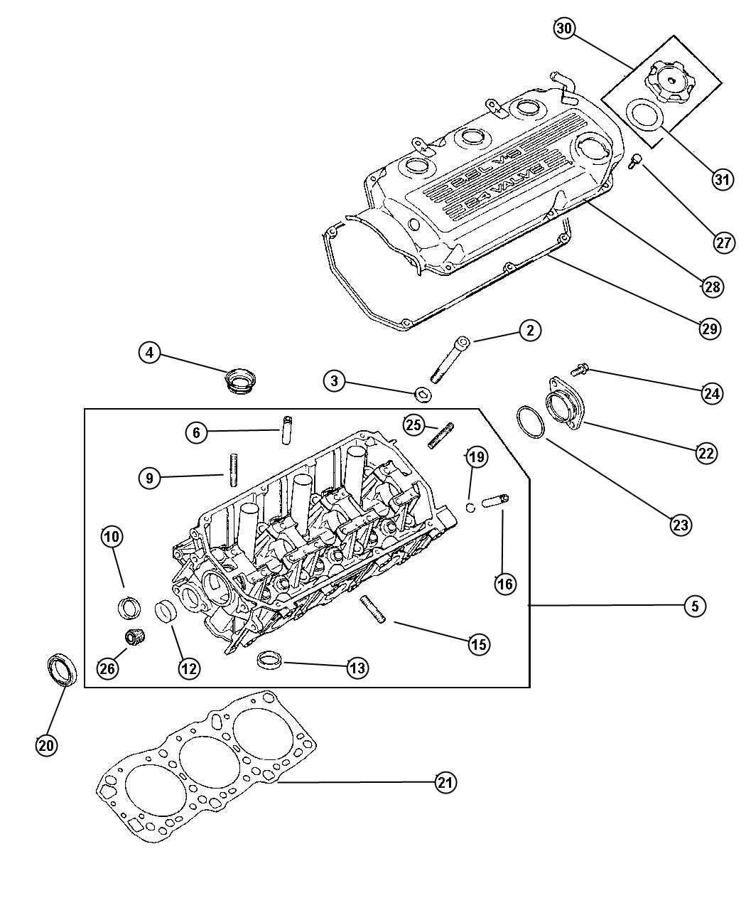 Chrysler Sebring Plug Expansion 32 Cylinder Head