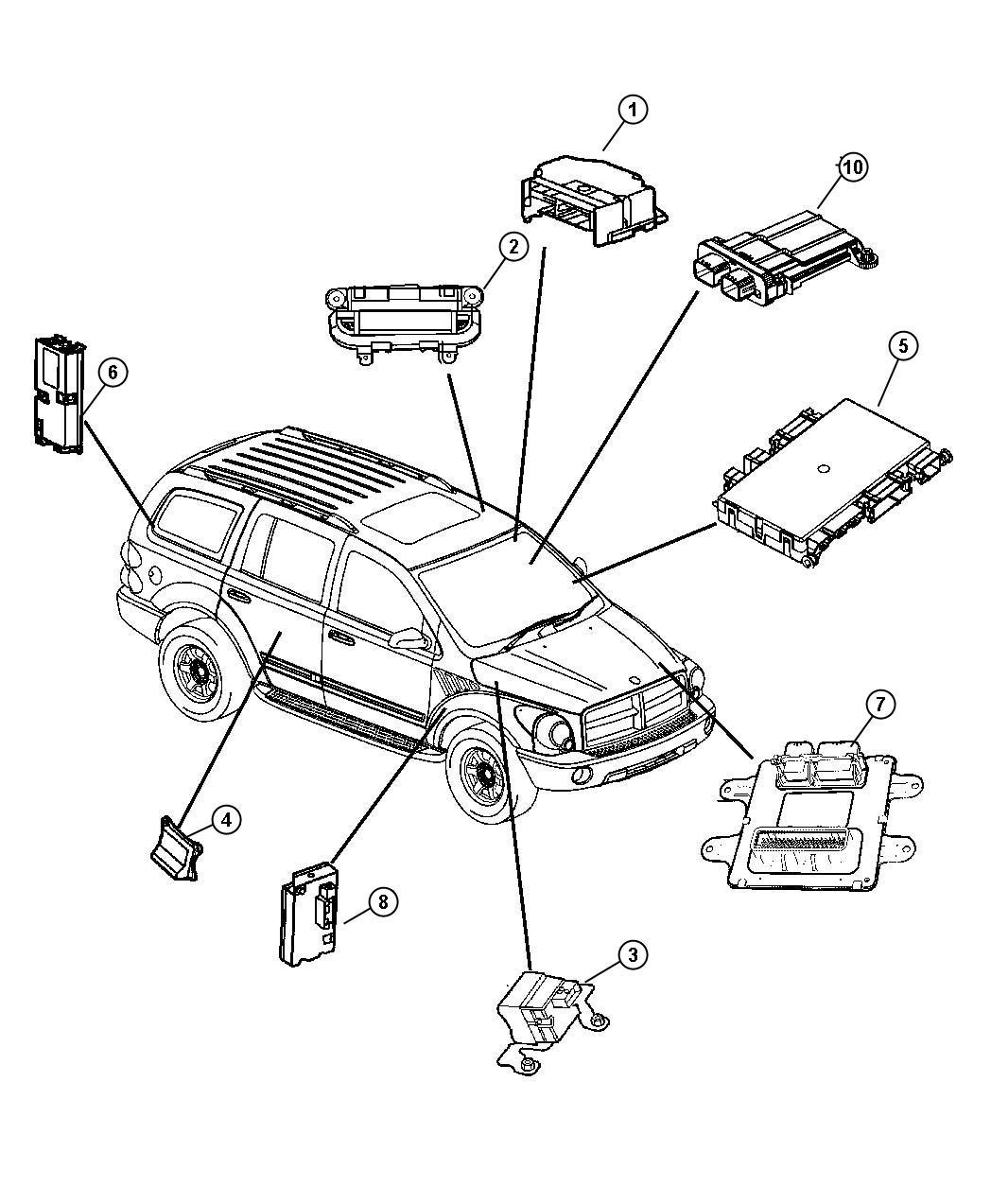 Dodge Durango Module Anti Lock Brakes Traction Control