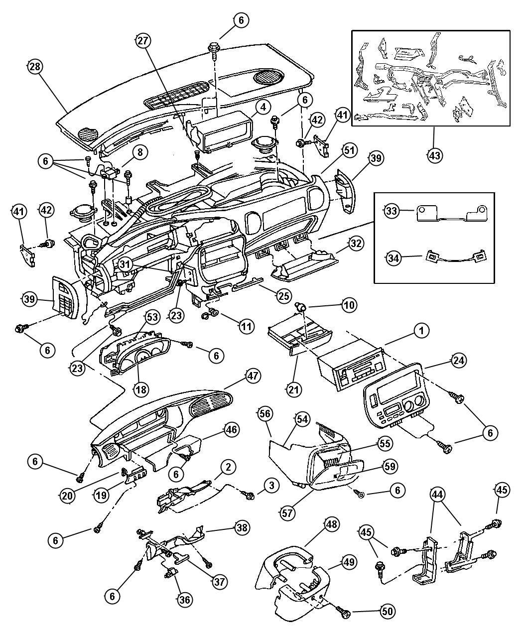 Chrysler Voyager Latch Glovebox C3 Gray Mist Gray