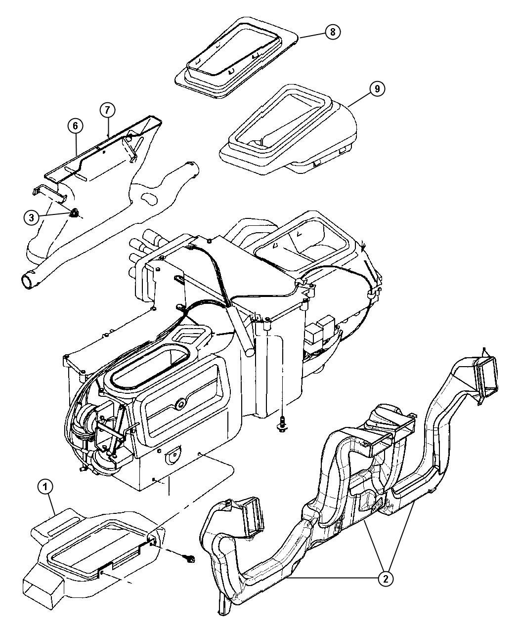Jeep Wrangler Adapter Demister Right Instrument Panel