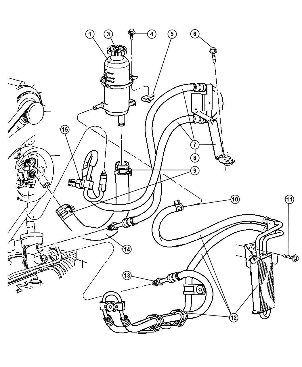 Jeep Liberty Cap Power Steering Reservoir Power Rack