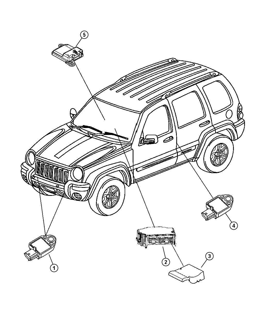 Jeep Liberty Sensor Air Bag Genmultistageair
