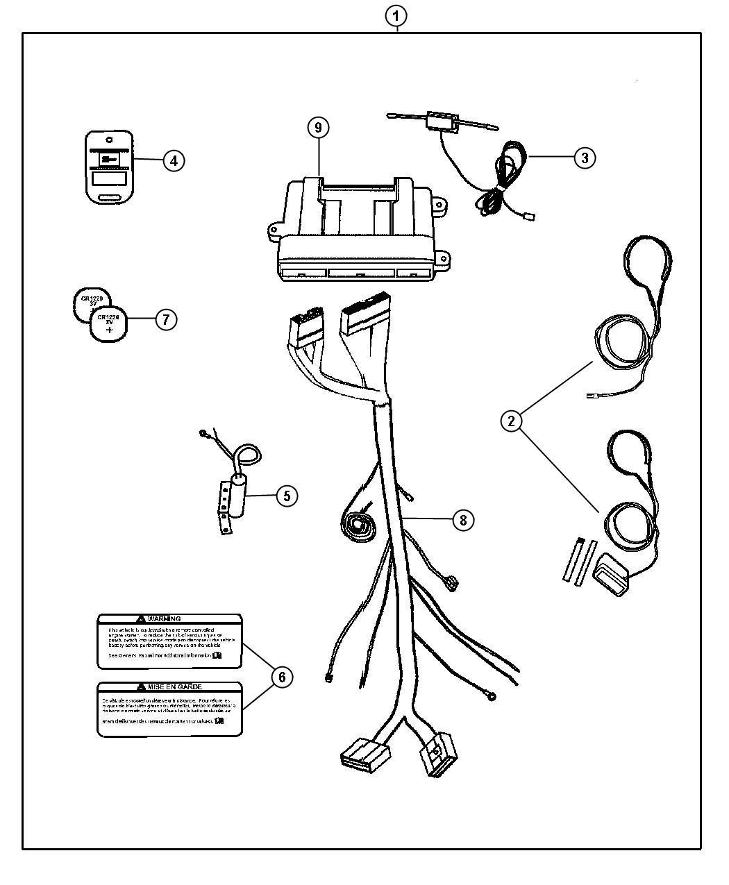Dodge Dart Install Kit Remote Start