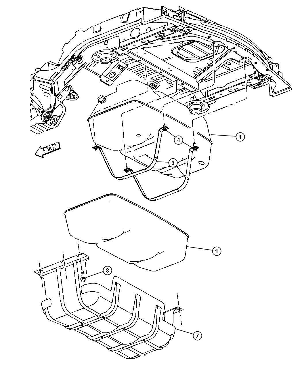 Jeep Liberty Strap Fuel Tank