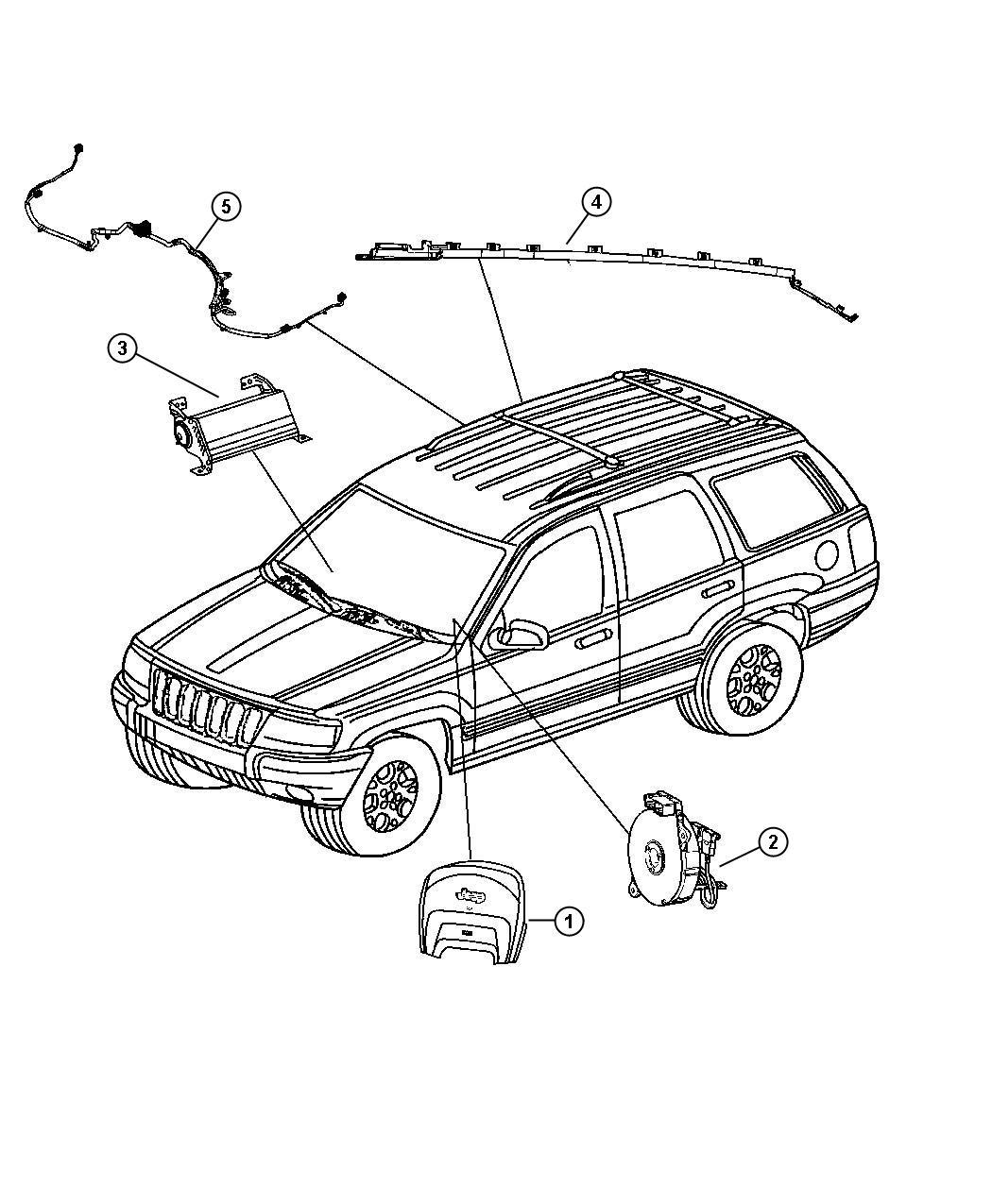 Jeep Grand Cherokee Wiring Air Bag Adapter