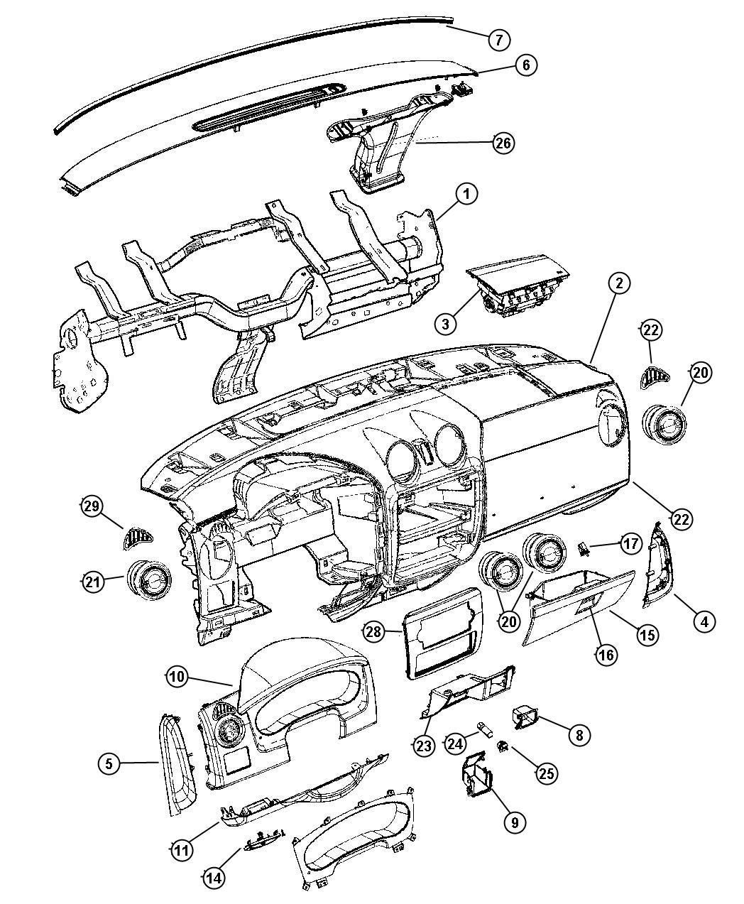 Dodge Dakota Handle Parking Brake D5 Trim All Trim