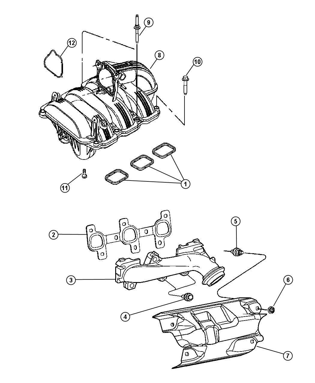 Dodge Dakota Manifold Left Left Side Exhaust